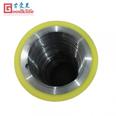 Rubber bonded rings and spacers for slitting line